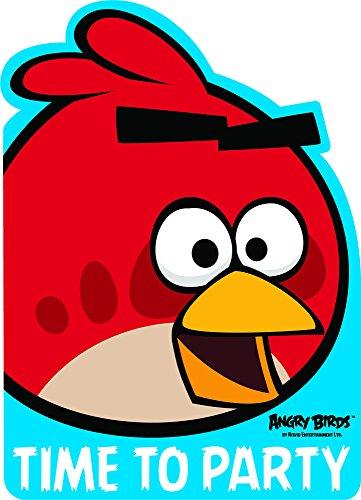 Angry Birds-Einladungen (Packung mit 6)
