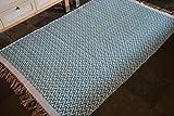 Rugsite 100% Baumwolle Blaugrün Chevrons schwere geschoben Teppich. 120x 180cm große Wende Raum Größe Moderner Teppich
