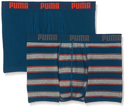 PUMA Herren Unterwäsche Rugby Stripe YD 2P, blue/orange, L, 671002001 (Pyjama Stripe Baumwolle)