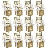 50 Cajas Sillas de Bolsos de Dulces, Cajitas para Regalos del Caramelo de Boda, para señalar la Posición de los Invitados en las Mesas del Banquete (Dolado)