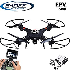 s Idea® 01660S303Quadcopter FPV 5.8GHz/HD Camera Height Balance/Drone with One Key Return/Coming Home/Headless Mode VR, Drone 360Degree Flip Function 2.4GHz with Gyro 4CH 6Axis System Drone with Camera 720P by s-idee®