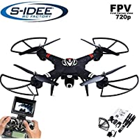 s Idea® 01660S303Quadcopter FPV 5.8GHz/HD Camera Height Balance/Drone with One Key Return/Coming Home/Headless Mode VR, Drone 360Degree Flip Function 2.4GHz with Gyro 4CH 6Axis System Drone with Camera 720P - Compare prices on radiocontrollers.eu