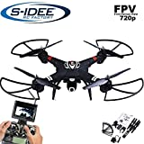 s-idee® 01660 Quadrocopter S303 FPV 5.8 Ghz Übertragung HD Kamera Höhenstabilisierung, Drohne mit One Key Return, Coming Home / Headless Mode, VR möglich, Drohne 360° Flip Funktion, 2.4 GHz mit Gyro, 4-Kanal, 6-AXIS System Drone mit Camera 720p