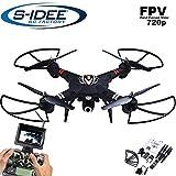 Idea S 01660Quadrocopter S303FPV 5.8GHz trasferimento HD fotocamera altezza stabilizzazione, drone con One Key Return, Coming home/Headless Mode, VR possibile, drone funzione rotazione a 360°, 2.4GHz con Gyro, 4canali, 6assi di sistema drone con camera 720P