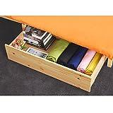 innovareds pino Natural de madera debajo de la cama cajón de almacenamiento Set de 2Natural color