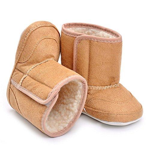 Bottes d'hiver pour bébés, Chaussure premier pas fille Kaki
