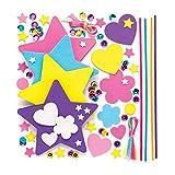 Baker Ross Kit per bacchette magiche (confezione da 4) - Creazioni per bambini, per travestirsi o per accessoriare costumi