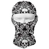 Aeykis Skull unisex in bianco e nero Skull Unisex Outdoor Skate Mask Full Face Mask Bandana Neck