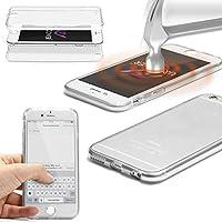 URCOVER® 360 Grad Case Cover Protettiva | Custodia Apple iPhone 6 / 6s | Silicone TPU in Trasparente | Protezione Schermo Trasparente Ultrasottile Back Antigraffio Screen Protector