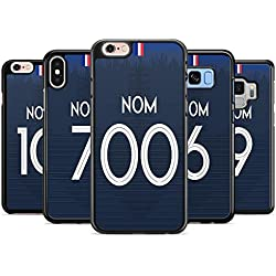 FUNcoque Coque Silicone Bumper Souple IPHONE 7 & 8 - Coupe du Monde 2018 Football Maillot Drapeaux France Swag Case TPU Design + Film de Protection Inclus