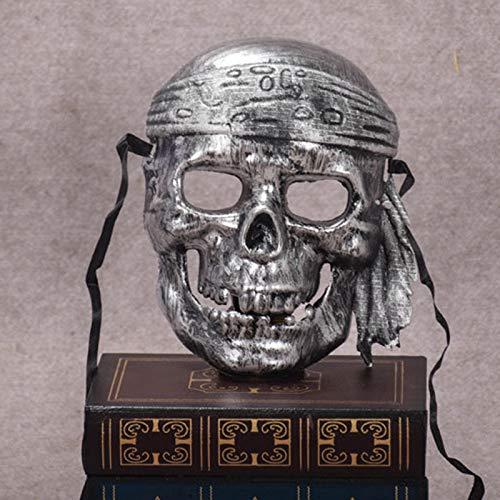 Vikenner Halloween Skull Skeleton Maske Pirat Gesichtsmaske Horror -
