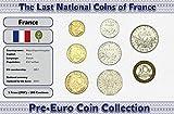 Monedas PRE EURO de Francia - 8 monedas acuñadas entre los años 1960 y 2001