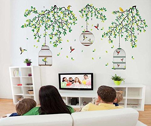 ufengker-branche-darbre-vert-beaux-oiseaux-et-de-la-cage-stickers-muraux-salle-de-sejour-chambre-a-c