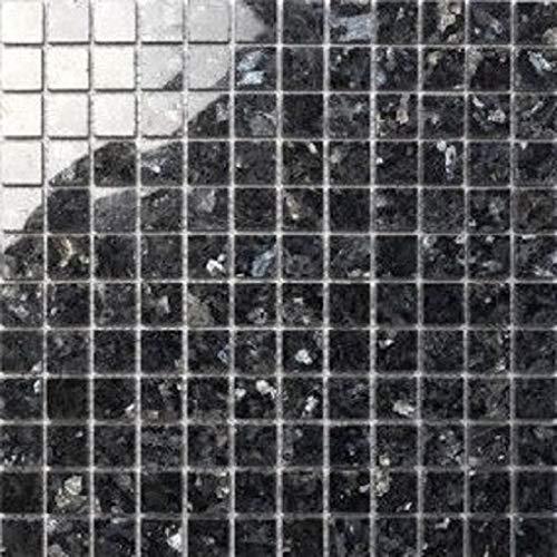 Granit Mosaik Blue Pearl 2,3x2,3x0,8cm, 1 Tafel MOSAKO Fliesen -