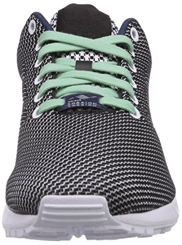 adidas Originals Zx Flux Weave, Baskets Basses mixte adulte Blanc - Weiß (Ftwr White/Core Black/Dark Blue)