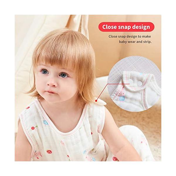 Vandesun – Saco de dormir para bebé (2,5 tog, unisex, 6 capas), color rosa rosa rosa Talla:6 meses