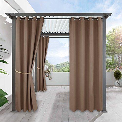 RYB HOME Verdunklungsvorhänge für Garten - Vorhang Blickdicht Ösen Wasserdicht Mehltau beständig...