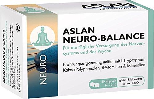 Aslan Neuro-Balance (60 Kapseln) - Nahrungsergänzungsmittel mit L-Tryptophan Vitamin B-Komplex für...