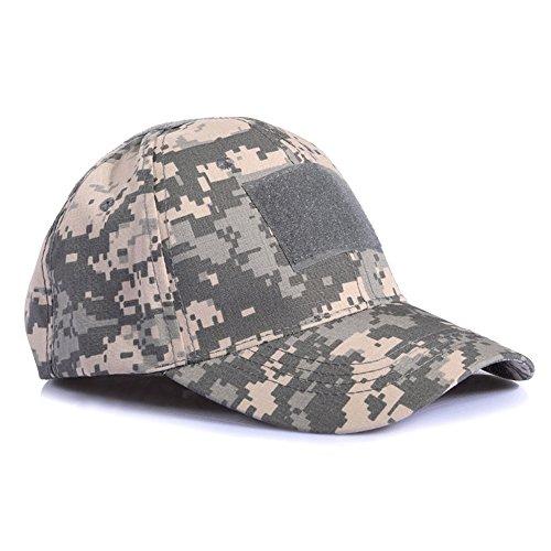 Ever Fairy Casquette de Baseball Militaire Army Tactical Camouflage Hat Peaked Cap pour Wargame Chasse Pêche Jeux de Plein air (Digital ACU)