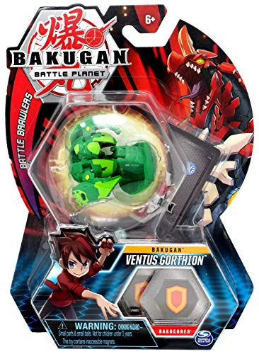 BAKUGAN, Ventus Gorthion, 2-inch Tall Collectible Transforming Creature, for Ages 6 and Up