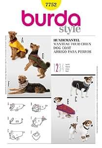 Burda B7752 Patron de Couture Manteau pour Chien 19 x 13 cm