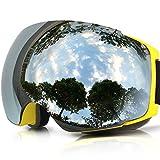 ZIONOR Skibrille, Lagopus X4 Ski Snowboard Brillen mit Magnet Schnell Lens-Wechselsystem Sphärische Wide View Anti-Fog UV400 Skibrille für Erwachsene und Teenager