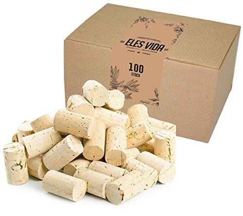 stelkorken Karton - Flaschenkorken als Weinkorken zum Dekorieren, verschönern, Basteln - Natur Flaschenkorken als Bastelzubehör für Kids, Erwachsene Hobby Bedarf 24 mm x 45 mm Hell (Karton Basteln)