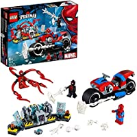 LEGO 76113 Super Heroes Spider-Man Bike Rescue Building Set, Marvel Toy Vehicles for Kids