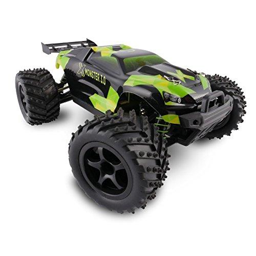RC Auto kaufen Truggy Bild 2: Overmax X-Monster 3.0 Monster Truck ferngesteuertes RC Auto - unglaubliche 45 km/h schnell - 1:18 Maßstab - 2 Akkus - Allrad - 100m Reichweite- Buggy*
