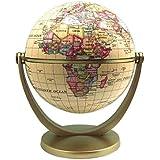 EXERZ Mini Antiker Globus - in Englischer Sprache (Durchmesser 10 CM)