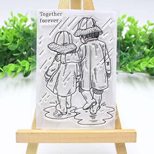 Sunhoyu DIY Silicone Clear Stamp, Transparent Stamp with Creative Pictures for Scrapbooking and Decoration Beautiful Badges & Calendars # 366#