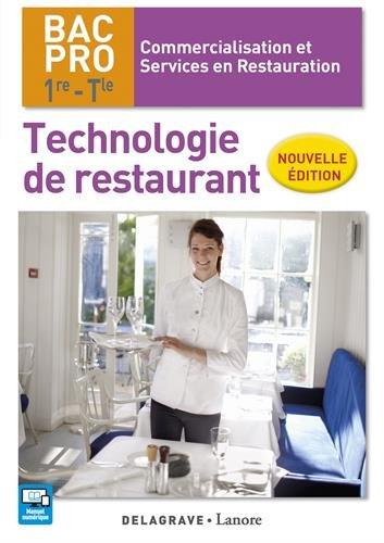 Technologie de restaurant 1re, Tle Bac Pro CSR - Pochette lve