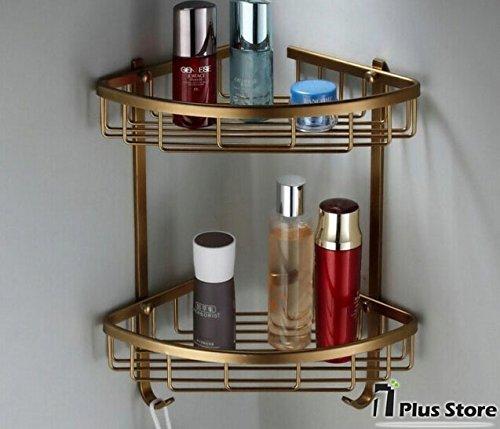 TougMoo an der Wand montierte Antik Bronze Aluminium Bad Eckregal bad seifenschale Badewanne Dusche Badezimmer Regal Zubehör,Weiß