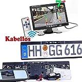 Drahtlos Funk Kabellos Farb Rückfahrkamera mit LED Nachtsicht und Farb Monitor für Auto KFZ PKW Klein Bus Kamera Car Rear View Camera