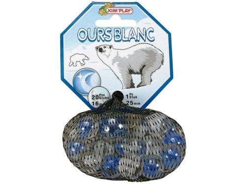 WDK Partner Ours Blanc (Polar Bear) Kugeln (20kleine + 1große)