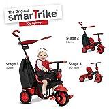 smarTrike Delight Trike - Triciclo para bebé (1 año de Edad, con Sistema de dirección táctil), Color Rojo