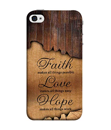 SublyDesk Faith Makes All Things Possible Quote Hard Printed Designer Case for Apple iPhone 5S Back Cover VKM1981