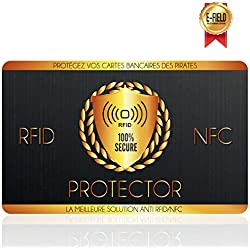 Protection Carte Bancaire, Carte Anti RFID, Plus d'Etui Carte Bancaire Anti Piratage, Blocker à Ondes Protege, Sécurise Votre Portefeuille, Protection Carte Bleue sans Contact, Carte de Credit
