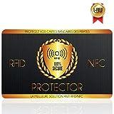 Protection Carte Bancaire, Carte Anti RFID, Plus d'Etui Carte Bancaire Anti Piratage, Blocker à Ondes Protege, Sécurise Votre Portefeuille, Protection Carte Bleue sans Contact, Carte de Credit