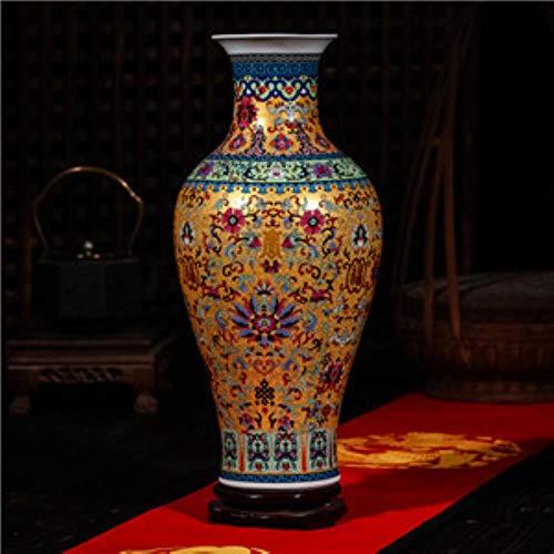 LGYLucky Jingdezhen Antike Langlebigkeit Emaille Bodenvase Klassische Dekoration Große Chinesische alte Palace Vasen,1