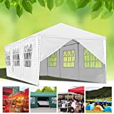 Hengda 3 x 9 m Jardin Tonnelle étanche Jardin Camping Stable tente tubes d'acier stable de haute qualité avec 6 parties latérales et 2 entrées étanche