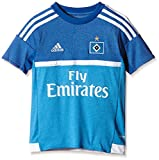 adidas Jungen Kurzarm Auswärtstrikot Hamburger SV Replica, Bright Blue, 176, S09285