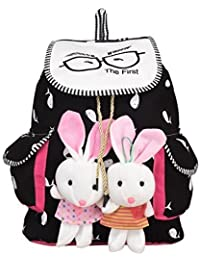 SAISAN Girl's Canvas Multicolour Backpack