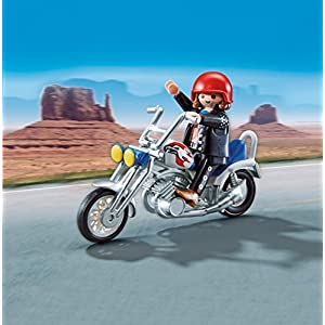 Playmobil Coleccionables – Sports & Action Moto Chopper Muñecos y Figuras (Playmobil 5526)