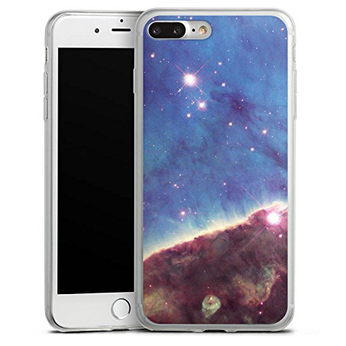 Apple iPhone X Slim Case Silikon Hülle Schutzhülle Gabriela Mistral Nebel Space Galaxy Silikon Slim Case transparent