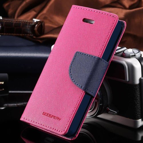 Mercury Wallet Flip Cover Samsung Galaxy J5 Pink For KTS
