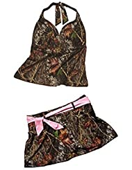 Mossy Oak Camo Halterkini & Skirtini Swim Set (Medium) by Mossy Oak