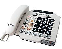 """Marque: Geemarc Utilisation du téléphone sénior Geemarc Photophone 100 Le téléphone à grosses touces Photophone 100 de Geemarc est unique! C'est le parfait compromis entre un téléphone fixe type """"photophone"""" et un téléphone fixe à grosses touches. La..."""