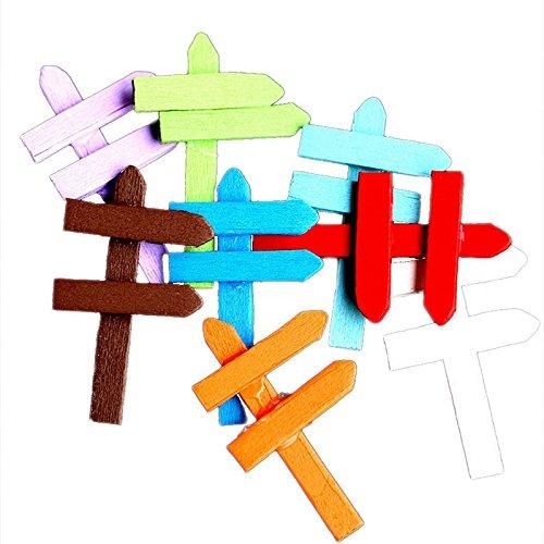 Ruimin Artisanat en bois de doigt de doigt artificiel miniature de bricolage outils colorés de jardin de signe de rue