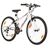 Multibrand, PROBIKE Tempo, 24 Zoll, 279mm, Mountainbike, 18 Gang, Unisex, Shimano, Weiß Glänzend